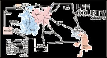 Lee County AL Political Map