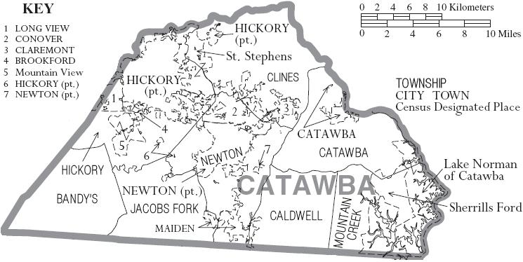 Image map of catawba county north carolina with municipal and map of catawba county north carolina with municipal and township labelsg publicscrutiny Gallery