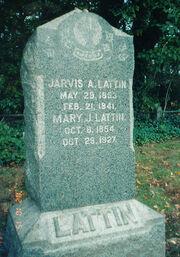 Lattin-Jarvis Puckett-Mary tombstone