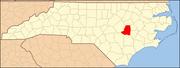 North Carolina Map Highlighting Wayne County.PNG