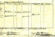 Turner rowe marriage cert
