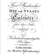 Jean Jacques Lindauer I (1725-1812) in Hof und Staats Calender (1805)