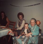Margaret Szczesny, Helen Freudenberg, Maria Winblad and Kevin Borland 1977 circa