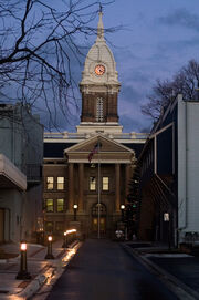 Ingham county courthouse night