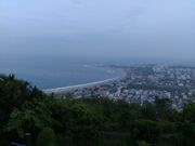 Vizag city aerial view
