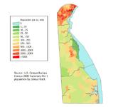 Delaware population map