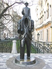 Kafka monument of Jaroslav Róna in Prague