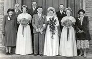 Wedding in 1951 of Grace Enid Baglin (1933-2006) to Ernest Raymond Russ