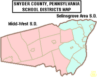 Map of Snyder County Pennsylvania School Districts