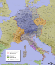 Map of the Holy Roman Empire in the 10th century