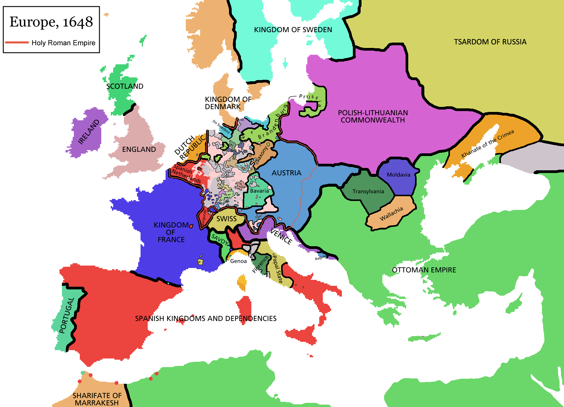 europe map 1648png