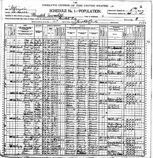 US Census 1900- Illinois-LaSalle-Mendota-district 65 page 35