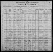 Census of Florence Township Benton County Iowa 1900 pg28