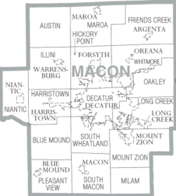 Map of Macon County Illinois