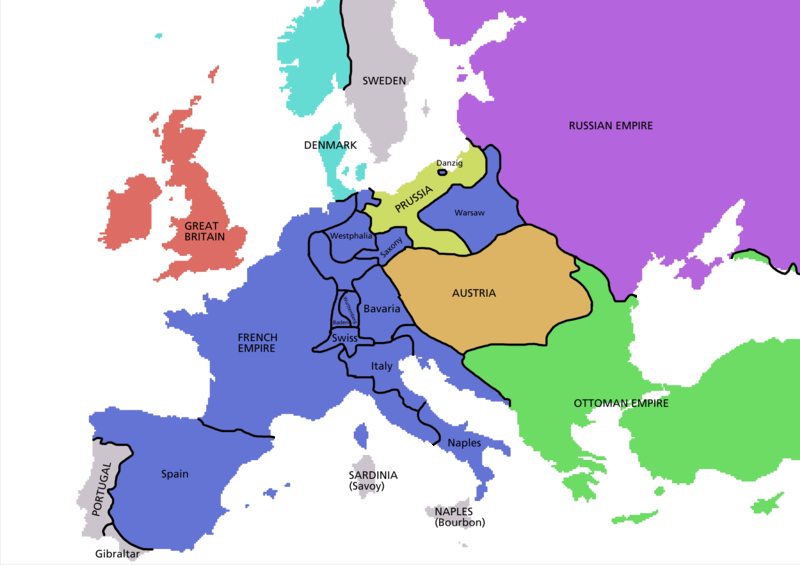 Image - Europe map 1812.PNG | Familypedia | FANDOM powered by Wikia