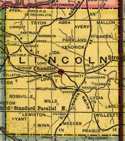 Lincoln Co OK 1905