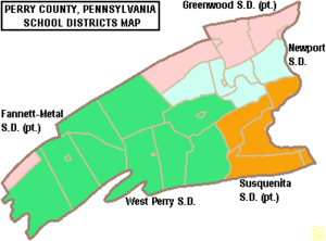 Map of Perry County Pennsylvania School Districts