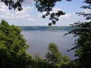Mississippi River w Lake Pepin in background at Frontenac State Park