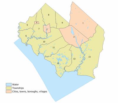 Cumberland County, New Jersey Municipalities