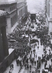 Crowd outside nyse