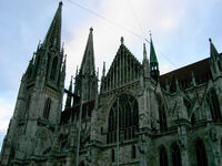 Regensburg cathedral sideview