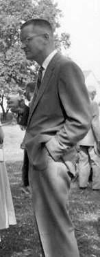 BILL AT GARDNER LEE WEDDING AUG 1958