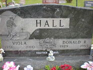 Donald and Viola Hall headstone