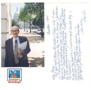 Robert Courtney Hahnen Sr card to Mary L Keating Daniels 1994