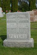 John and Catherina Peters Headstone