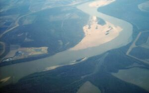 Mississippi River-sand bars