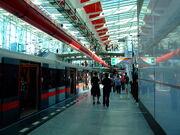 Praha, Střížkov, stanice metra Střížkov, nástupiště II