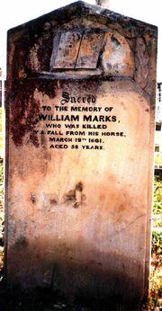 William Marks (1803-1861) tombstone