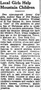 Geraldine Winblad in the Jersey Journal on November 23, 1937