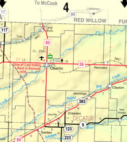 Map of Decatur Co, Ks, USA