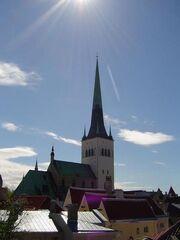 Oleviste kirik in Tallinn, Estonia