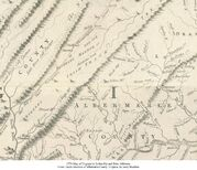 1751 Map of Virginia by Fry and Jefferson