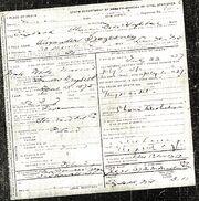 Alexander Szczesny death certificate