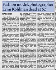 Lynn Eleanor Kohlman obituary Los Angeles Times