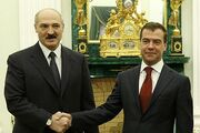 Lukashenko and Medvedev December 2008