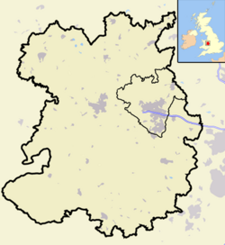 Shropshire outline map with UK (2009)
