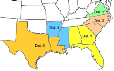 US Reconstruction military districts