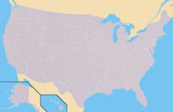 Map of USA with county outlines