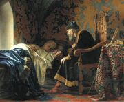 Grigory Sedov - Ivan the Terrible admiring Vasilisa Melentieva