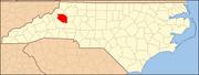 North Carolina Map Highlighting Caldwell County.PNG