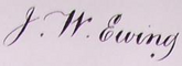 John William Ewing Signature