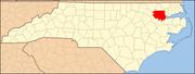 North Carolina Map Highlighting Bertie County.PNG