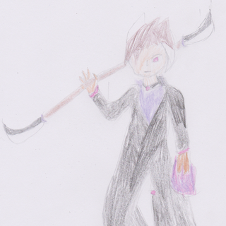 Omar as he appears in the PMMM fan universe, with the mentioned naginata.