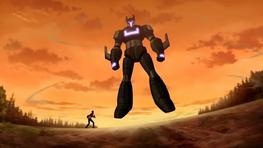 Rex sorprendido al ver el Meta-Zord