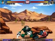Seis golpeando a Rex - TKO