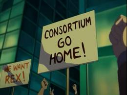 Muchedumbre = Fuera el consorcio, queremos a Rex!